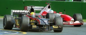 Mark Webber's debut in Formula 1 finishing in fifth