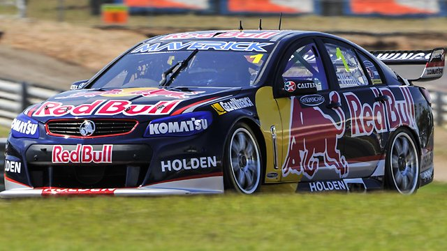Jamie Whincup running in at Darwin. Photo: Helen Orr