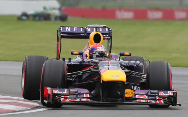 Sebastian Vettel racing to pole. Photo: Luca Bruno