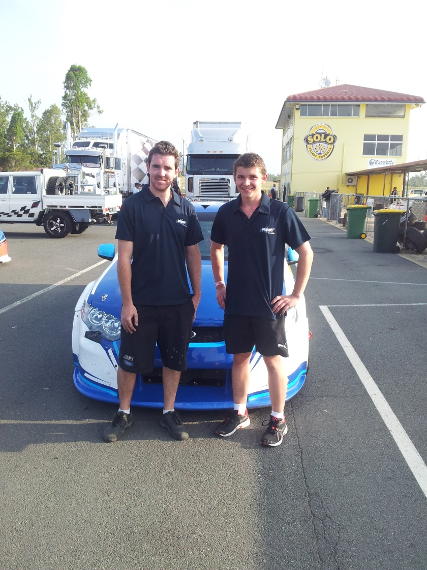 Todd Hazelwood with team owner Matt Stone.