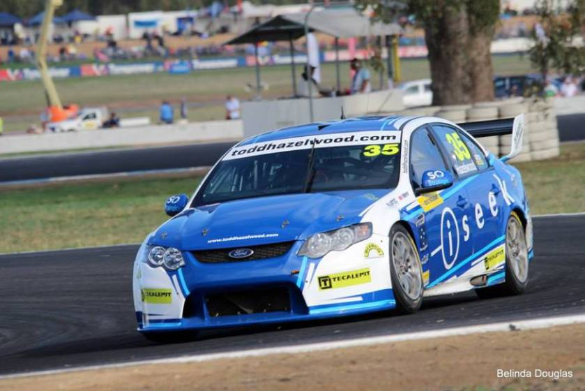 Todd racing at Winton. Photo: Belinda Douglas