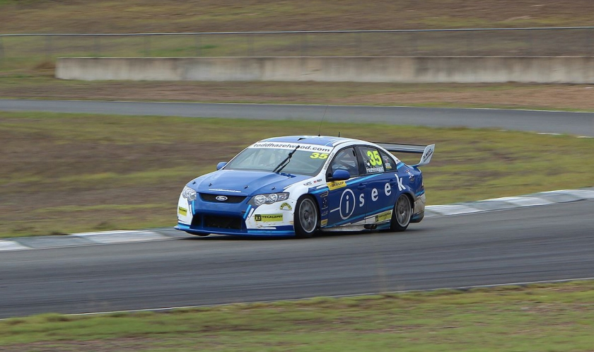 Todd Hazelwood testing at Queensland Raceway, preparing for Round 2