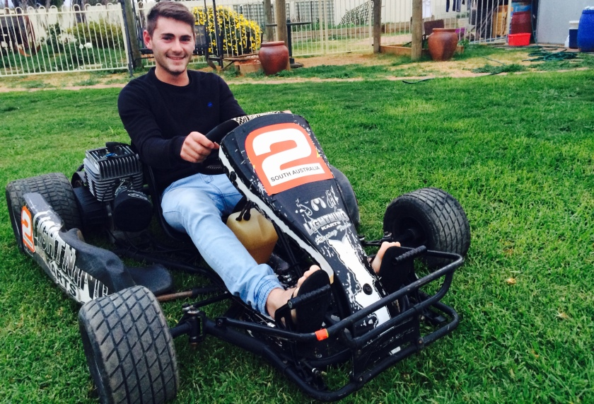 Loxton's Brett Manuel is ready to race. Image: supplied
